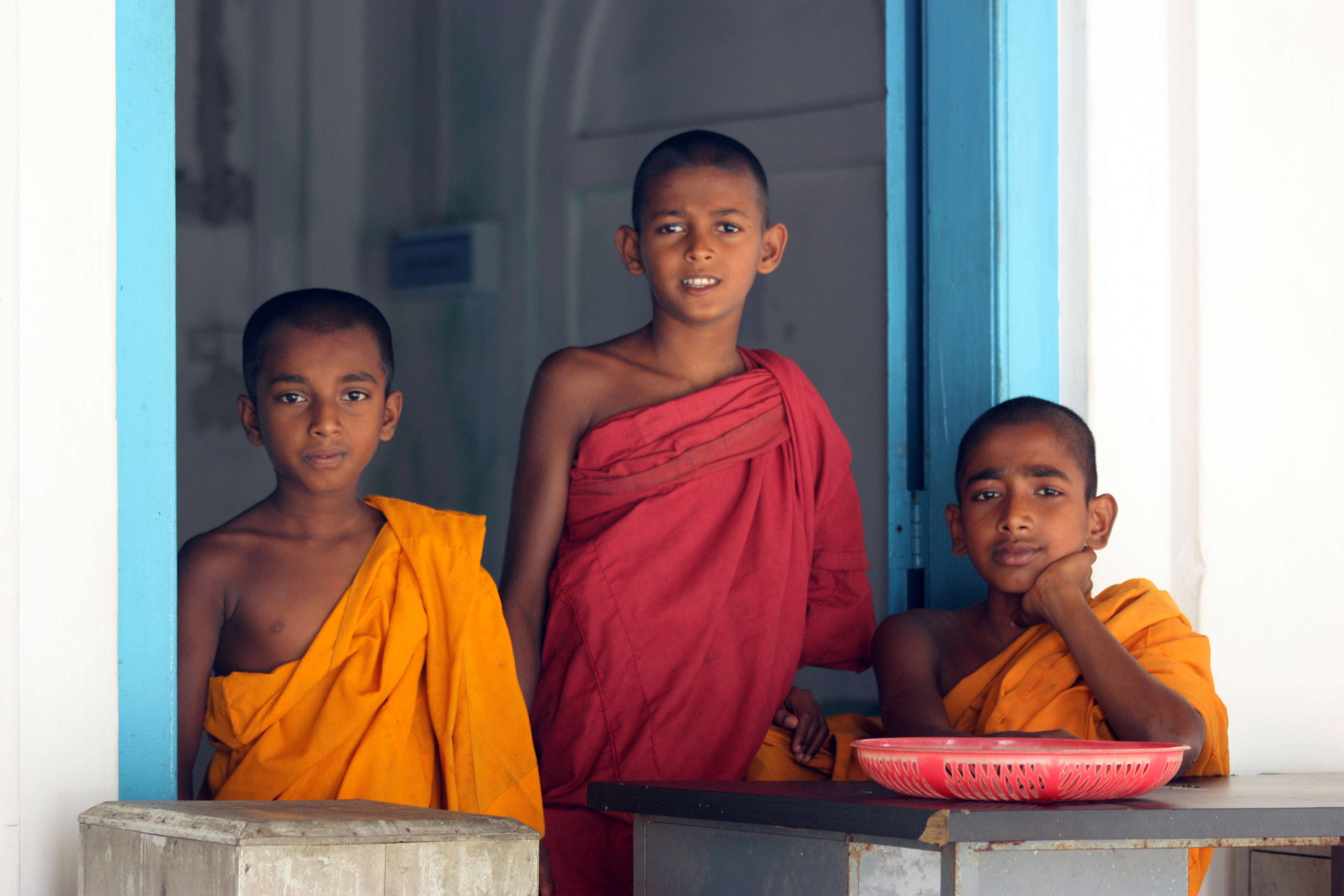 Three temple boys