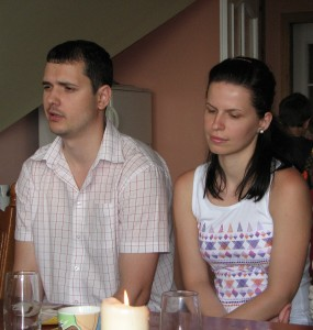 A young family at a meeting of Catholic married couples, picture 19