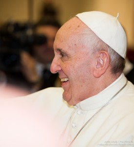 Pope Francis photographed in the Paul VI audience hall in January 2016 by Serhiy Lvivsky, picture 12