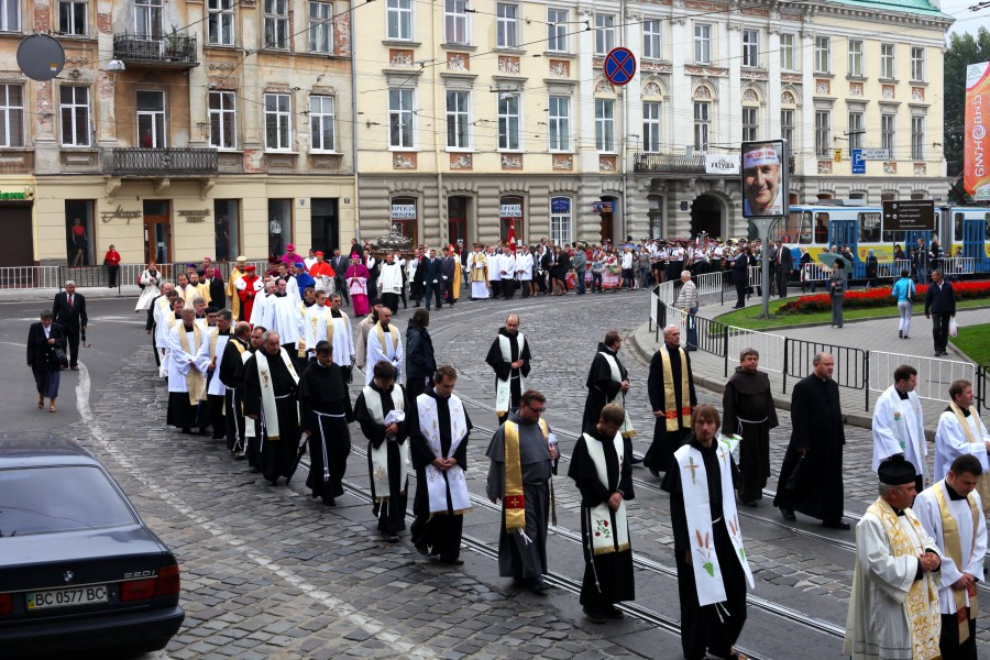 a Catholic procession during a celebration, picture 2