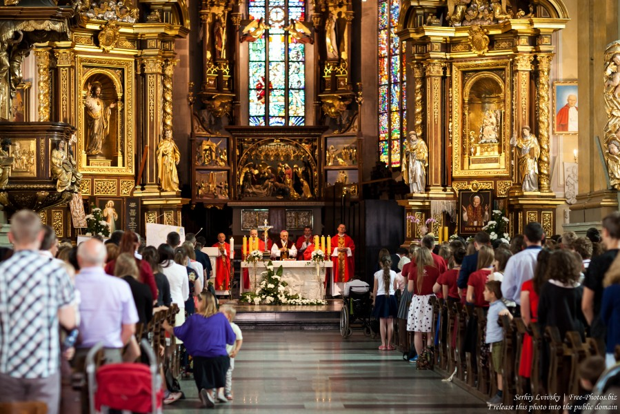 a Holy Mass in a Catholic church in Przemysl, Poland in July 2017, photo 1