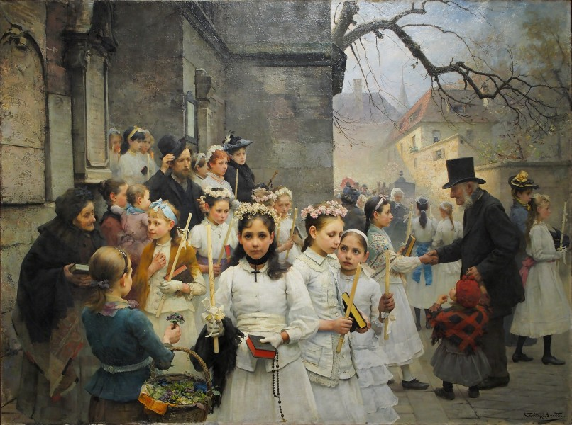 After first Communion (Carl Frithjof Smith, 1892)