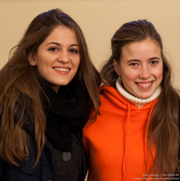 girls photographed at Taize Riga 2016 meeting, picture 1
