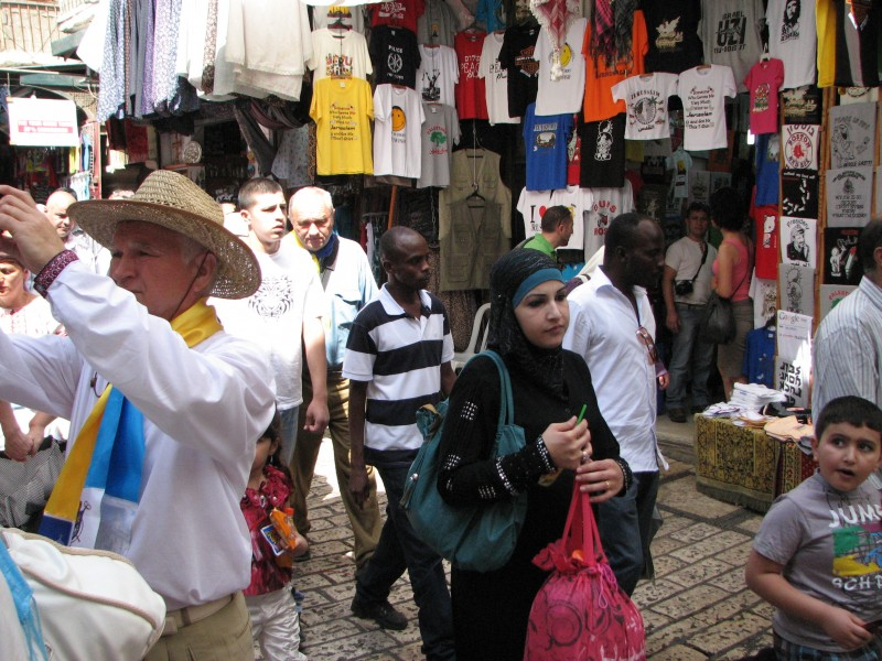 People in the street of Jerusalem, Israel, 2011, photo 32