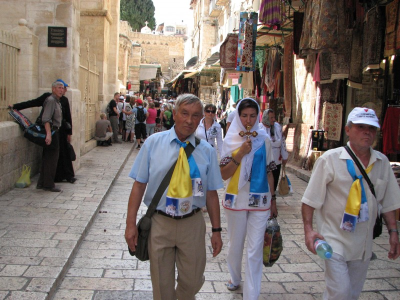 Christian pilgrims in Jerusalem, Israel, 2011, photo 25
