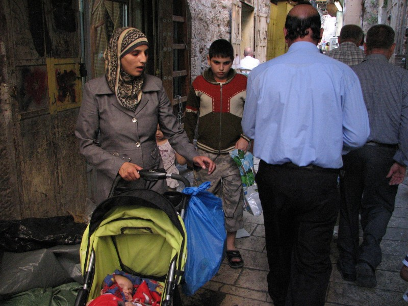 People on the street in Jerusalem, Israel, 2011, photo 3