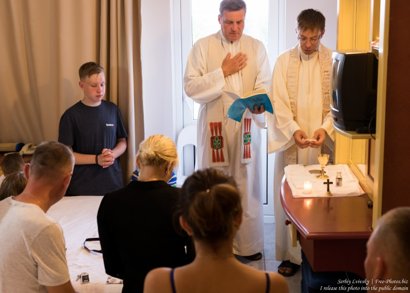 the Catholic mass in a hotel room in Turkey in August 2019, picture 2