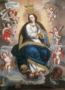 Basilio Santa Cruz - Immaculate Virgin Victorious over the Serpent of Heresy