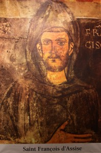 saint Francis of Assisi. All Christians in heaven are considered to be saints.