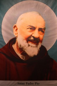 saint Padre Pio. All Christians in heaven are considered to be saints.