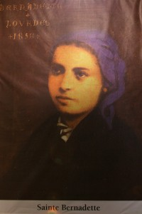 saint Bernadette. All Christians in heaven are considered to be saints.