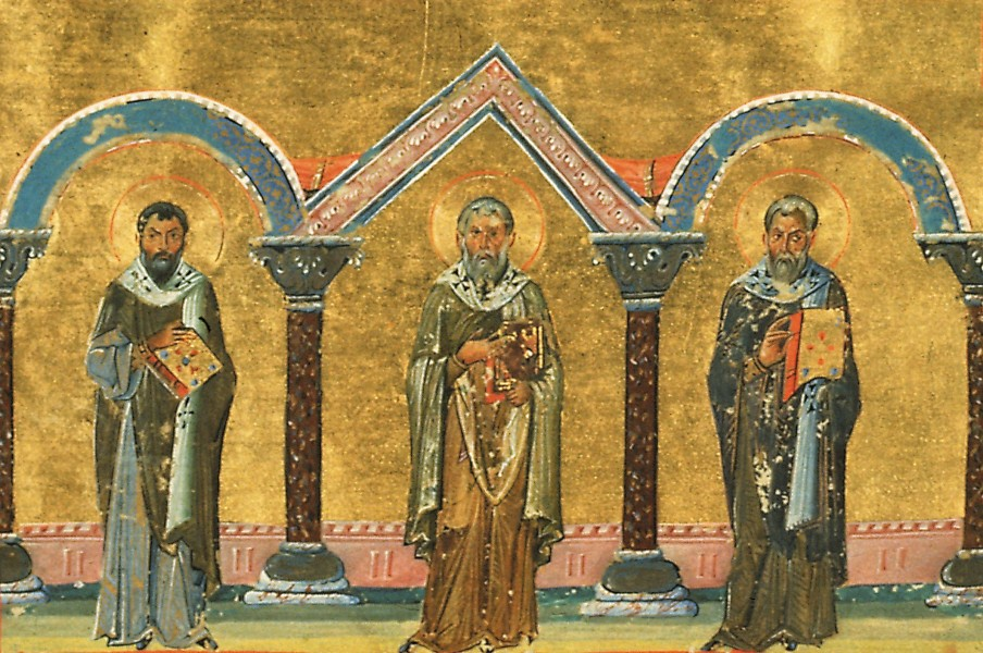 Marcellus, Bishop of Sicily, Pancratius, Bishop of Taormina, and Philagrius, Bishop of Cyprus (Menologion of Basil II)