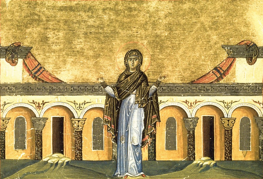 Righteous Syncletica of Alexandria (Menologion of Basil II)