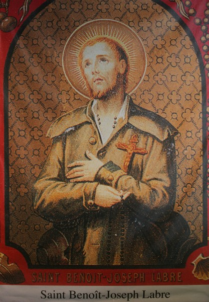saint Benedict Joseph Labre (saint Benoit-Joseph Labre). All Christians in heaven are considered to be saints.