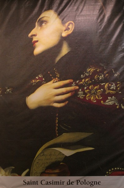 saint Casimir of Poland (saint Casimir de Pologne). All Christians in heaven are considered to be saints.