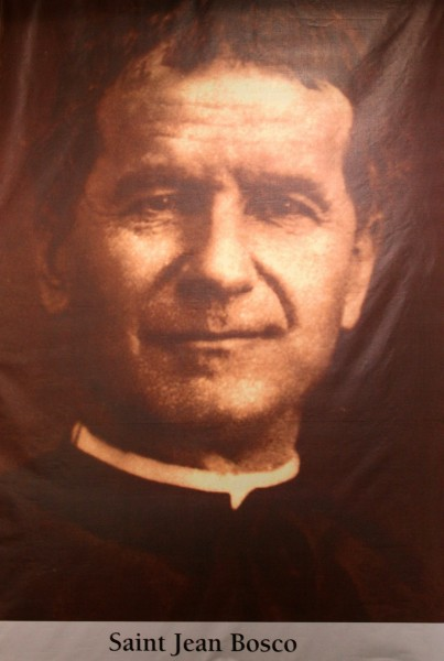 saint Jean Bosco (saint John Bosco). All Christians in heaven are considered to be saints.