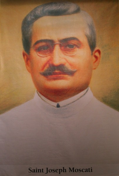 saint Joseph Moscati (saint Giuseppe Moscati). All Christians in heaven are considered to be saints.