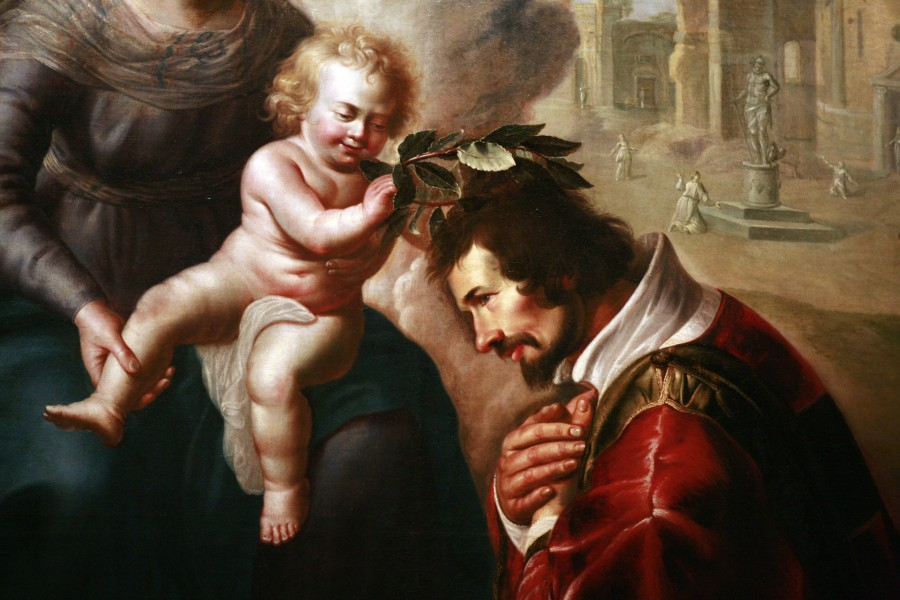 Saint Lawrence crowned by Baby Jesus mg 0147