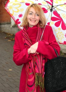a beautiful Catholic woman with an umbrella, photo 3