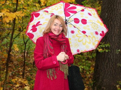 a beautiful Catholic woman with an umbrella, photo 5