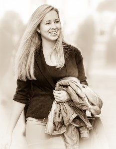 a young cute woman photographed in October 2014, picture 5, black and white