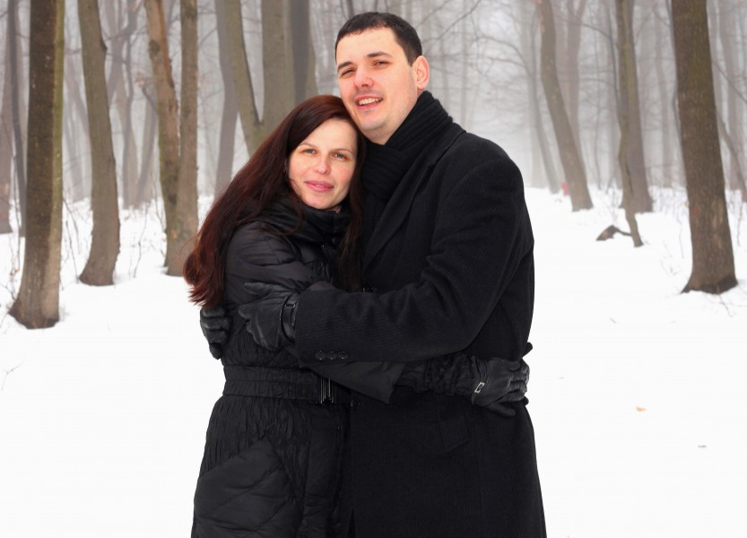 a beautiful charming Catholic woman with her handsome husband, picture 2
