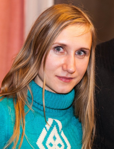 a young blond woman photographed in January 2014, portrait 2 out of 2