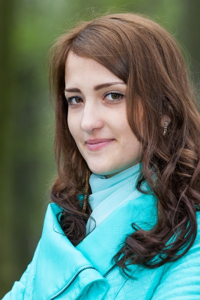 a young Catholic amazingly beautiful woman photographed in April 2014, picture 12/17