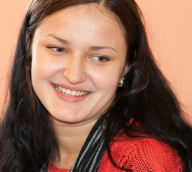 an amazingly beautiful young smiling Catholic woman photographed in November 2014, picture 15
