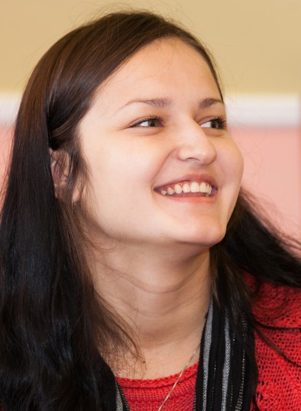 an amazingly beautiful young smiling Catholic woman photographed in November 2014, picture 19