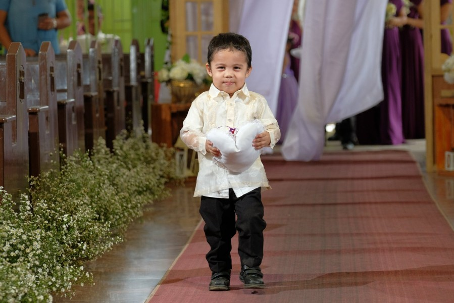 a ring bearer boy