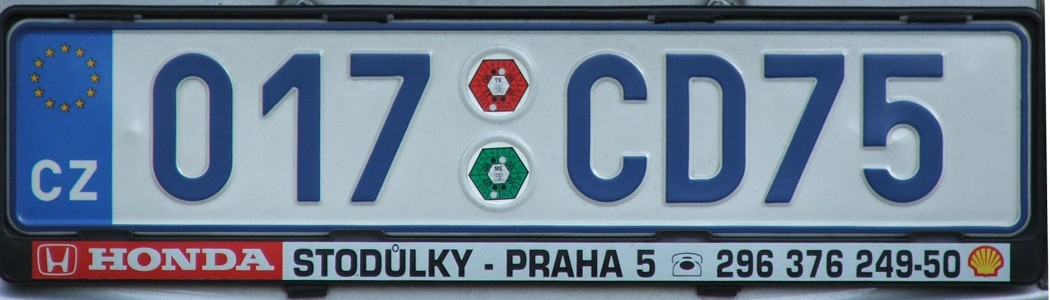 Czech diplomatic spz2134
