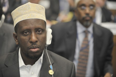 Sharif Sheikh Ahmed, 12th AU Summit, 090202-N-0506A-337