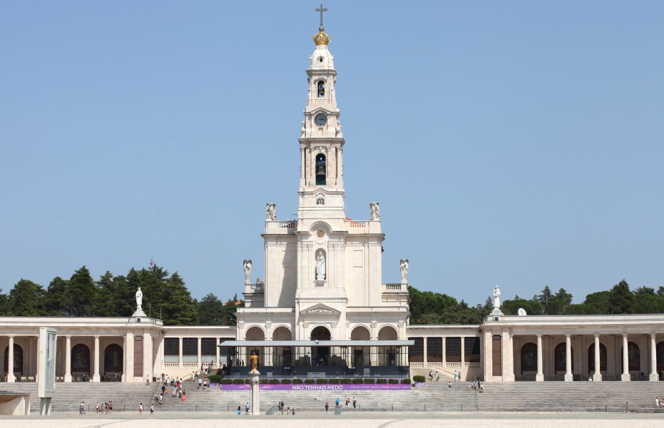 Basilica of Our Lady of the Rosary, Fatima, Portugal, Europe, August 2013, picture 1