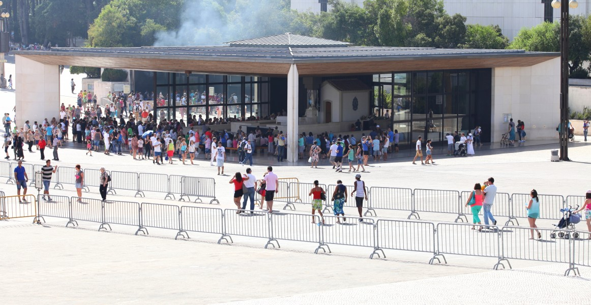 the Chapel of Apparitions in Fatima, Portugal, Europe, August 2013, picture 4
