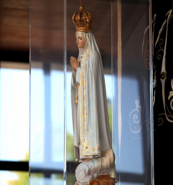 Our Lady of Fatima in the Chapel of Appartions, Fatima, Portugal, Europe, August 2013, picture 9