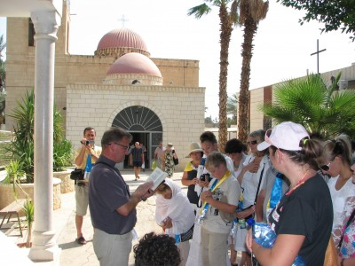 Christian pilgrims in Jericho, Israel, 2011, picture 2.
