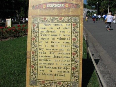 Our Father prayer in Spanish