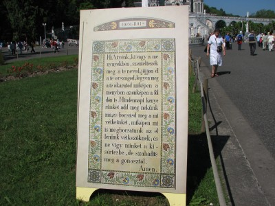 Our Father prayer in Hungarian language