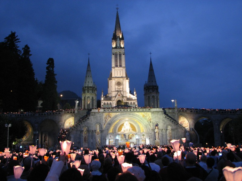 Lourdes in 2010, France