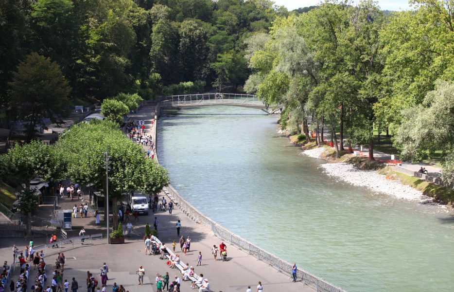 river Gave de Pau in Lourdes, France, Europe, August 2013, picture 24