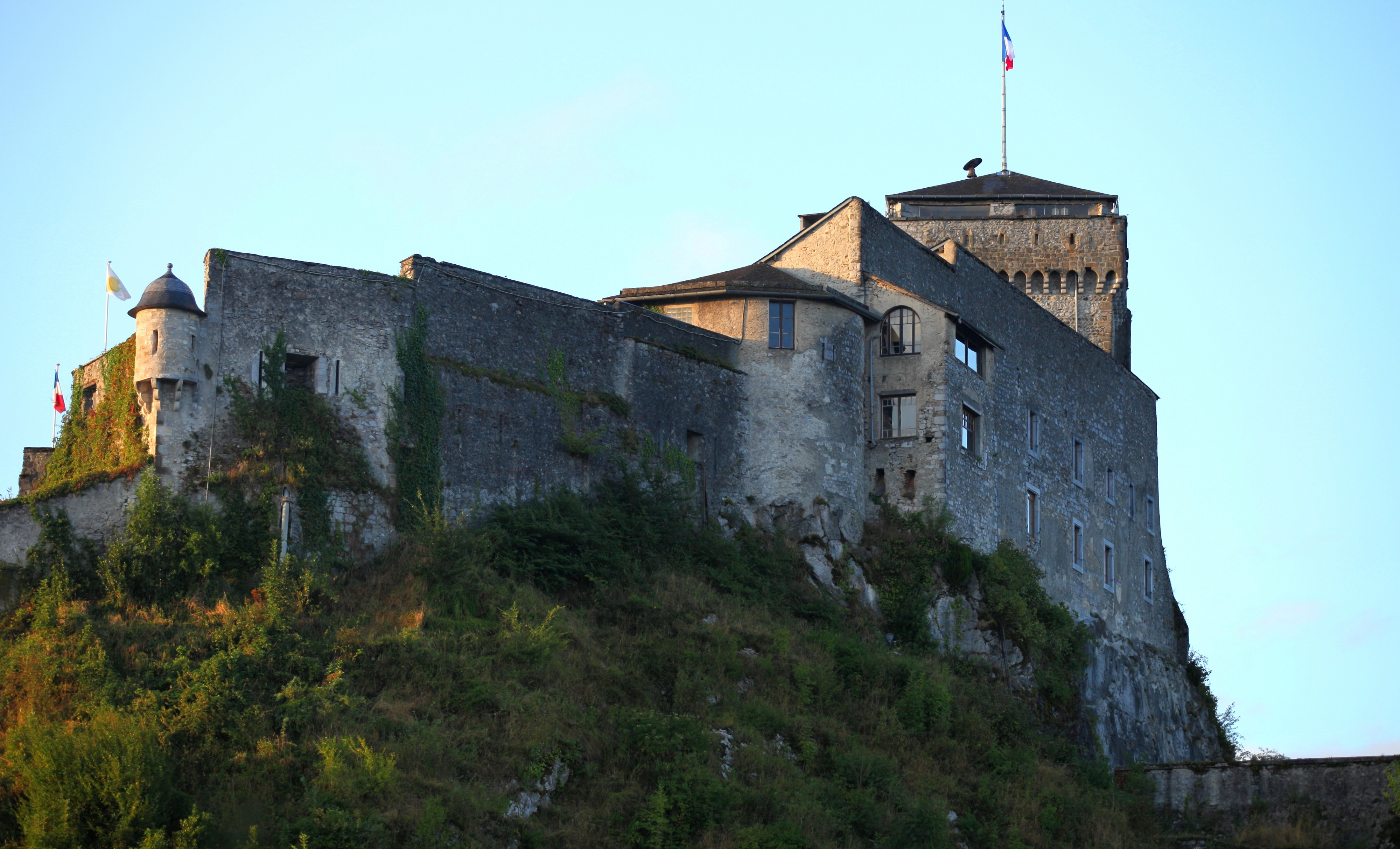 a castle in Lourdes, France, August 2013, picture 3