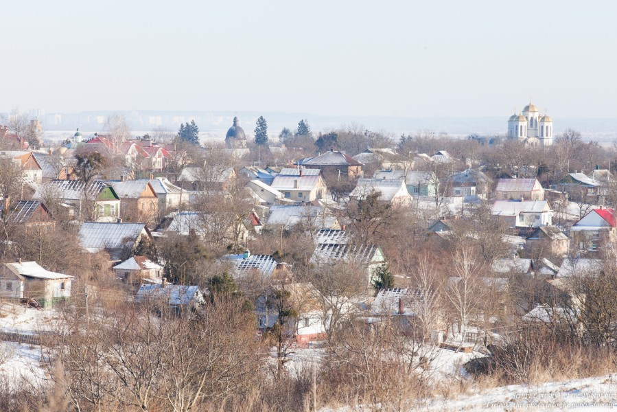 Ostroh town of Rivne region of Ukraine in January 2015