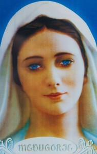 Virgin Mary image in Medjugorje, Bosnia, July 2014, picture 4