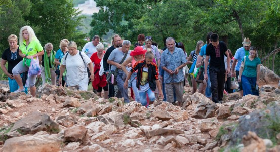 pilgrims in Medjugorje, Bosnia, July 2014, picture 6