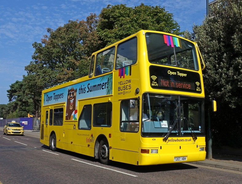 Bournemouth - yellow bus