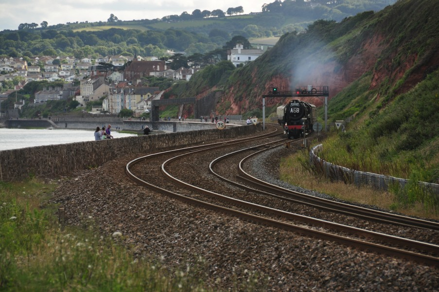 Britannia on the sea wall near Dawlish (4944)