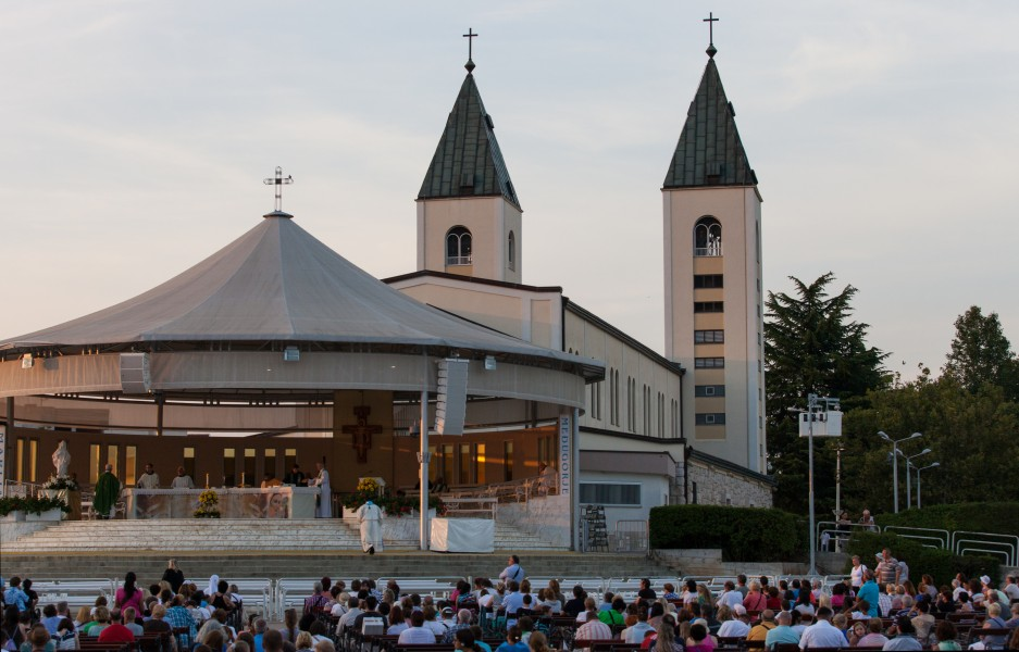 Saint James church in Medjugorje, Bosnia, July 2014, picture 2
