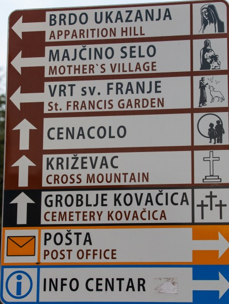 direction signs in Medjugorje, Bosnia, July 2014, picture 3