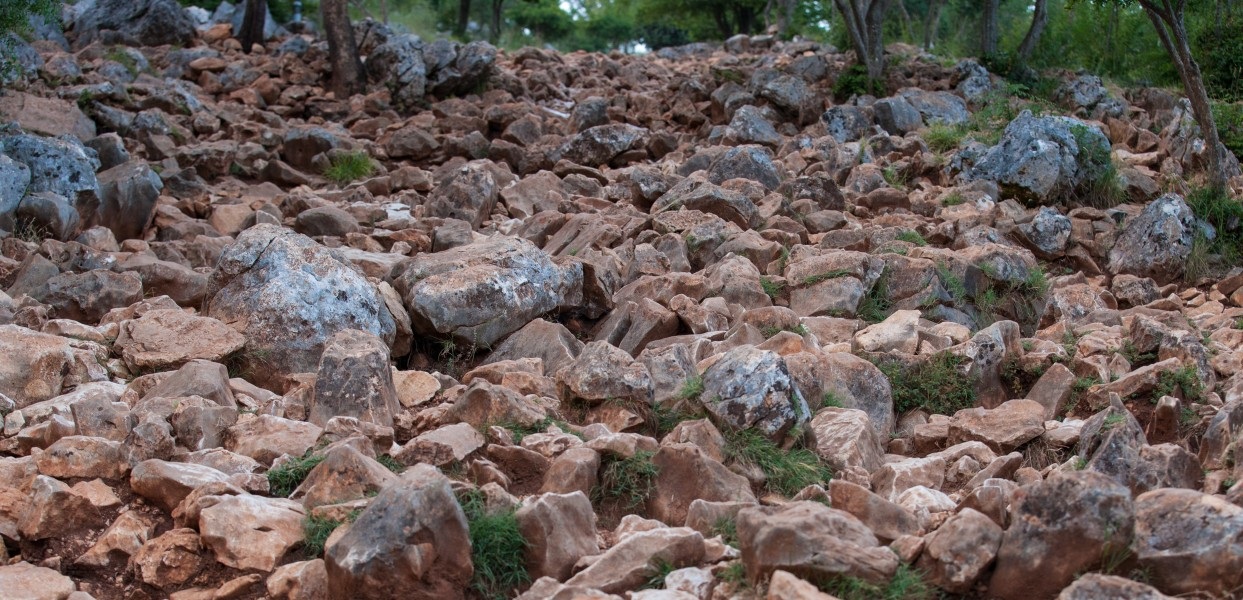 rocks on a mountain in Medjugorje, Bosnia, July 2014, picture 5